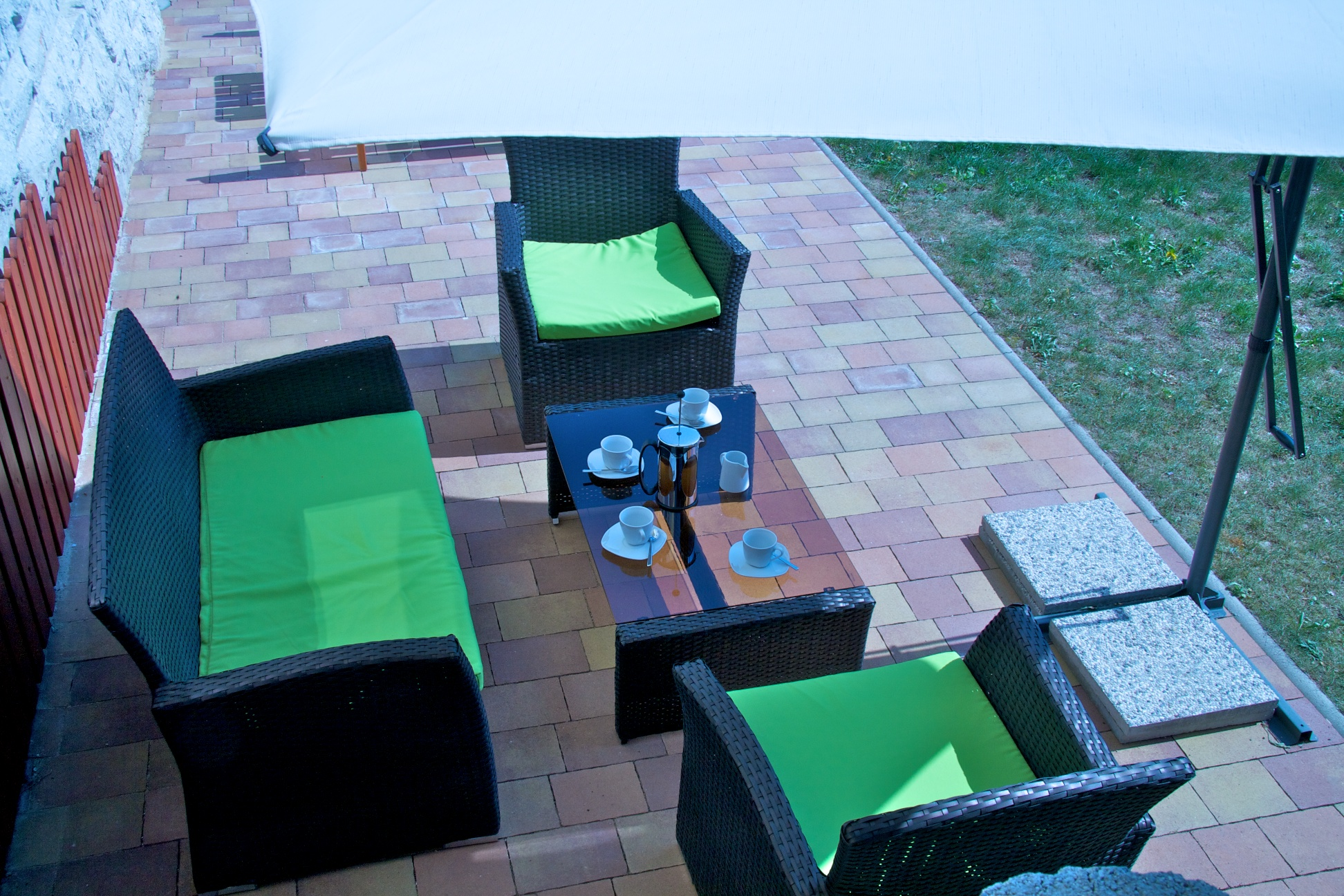 terrace apartment seating
