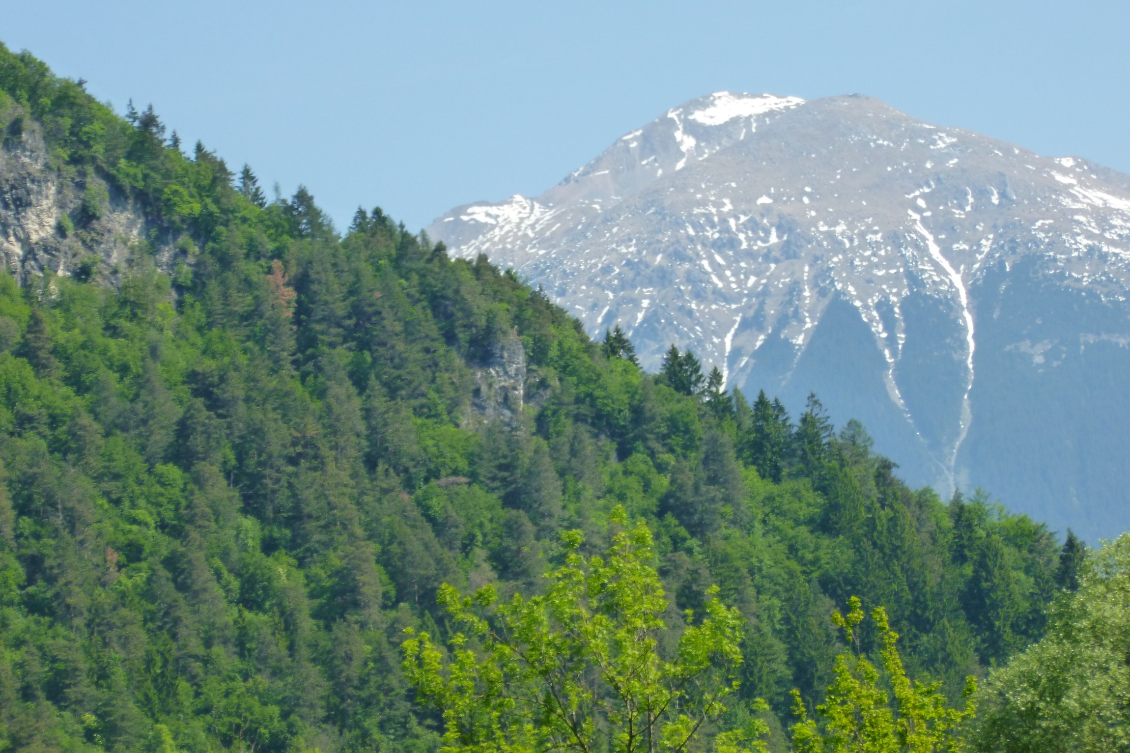 Mountains viewed from walk near Ribno